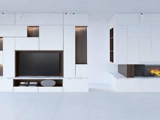 Villa Sommières Salon minimaliste par Deux et un Minimaliste
