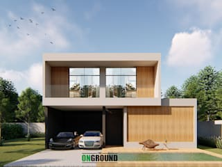 THAI-NIPPON HOUSE:  บ้านสำหรับครอบครัว by The OnGround บริษัทรับสร้างบ้านสไตล์ Modern Japanese