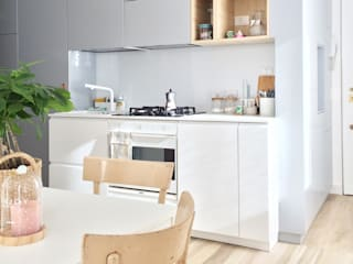 Appartamento 1410 Cucina minimalista di Spazio 14 10 di Stella Passerini Minimalista