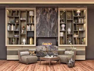 RIZVANOĞLU MİMARLİK MÜHENDİSLİK İNŞAAT A.Ş Modern living room