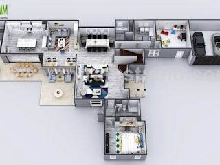 Exclusive New Modern House Virtual Floor Plan By Yantram 3D Animation Studio, Moscow - Russia Yantram Architectural Design Studio