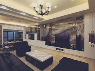 Salas de estilo moderno de 奕禾軒 空間規劃 /工程設計 Moderno