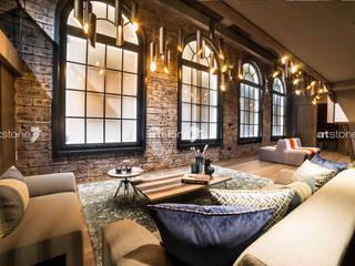 Bahcesehir Houses Salones de estilo ecléctico de Artstone Ecléctico