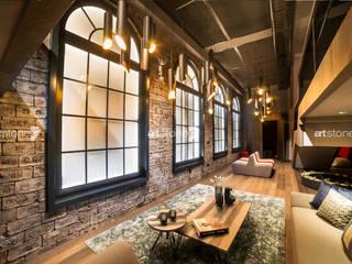 Bahcesehir Houses Salas de estilo ecléctico de Artstone Ecléctico