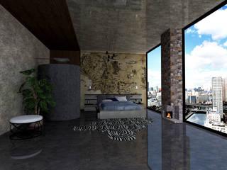 SKY İç Mimarlık & Mimarlık Tasarım Stüdyosu – Yatak Odası Tasarımı:  tarz Yatak Odası