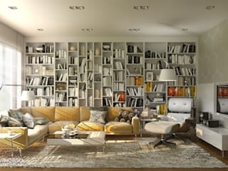Living room by Ludwinowska Studio Architektury