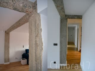 Proyecto, diseño y reforma de vivienda unifamiliar en Burgos: Paredes de estilo  de Cimbra47