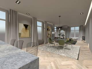 3D Visualisatie - Rotterdam:  Eetkamer door Spijker Design Studio, Modern