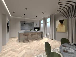 3D Visualisatie - Rotterdam:  Keuken door Spijker Design Studio, Modern