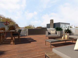 3D Visualisatie - Rotterdam:  Terras door Spijker Design Studio, Modern