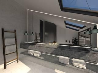 3D Visualisatie - Milaan:  Badkamer door Spijker Design Studio, Modern