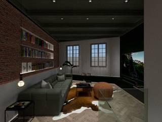 3D Visualisatie - Delft:  Woonkamer door Spijker Design Studio, Modern