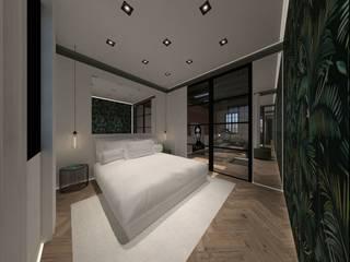 3D Visualisatie - Delft:  Slaapkamer door Spijker Design Studio, Modern