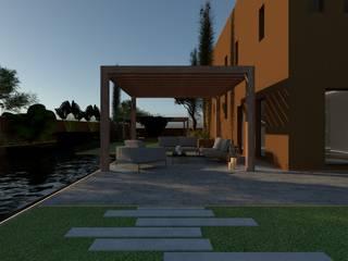 3D Visualisatie - Dubai:  Tuin door Spijker Design Studio, Modern