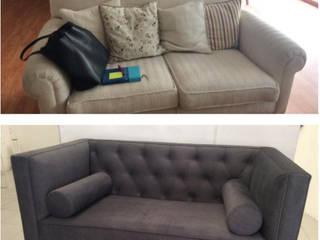 Tapicería y actualización de muebles:  de estilo  por La Tachuela Interiorísmo Tapiceria y Muebles
