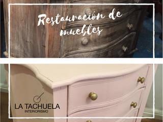 Restauración de muebles antiguos:  de estilo  por La Tachuela Interiorísmo Tapiceria y Muebles