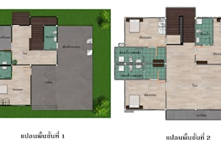 บ้านจำลอง 3D คุณอนุกูล โดย บริษัท พี นัมเบอร์วัน ดีไซน์ แอนด์ คอนสตรัคชั่น จำกัด คลาสสิค