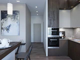 Вид из кухни на прихожую: Маленькие кухни в . Автор – VB-Design