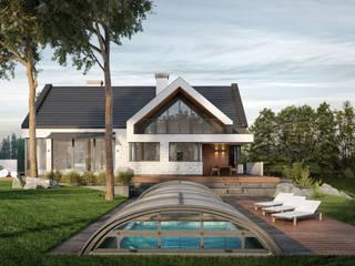 Projekt domu jednorodzinnego: styl , w kategorii Dom jednorodzinny zaprojektowany przez KJ Architekci,
