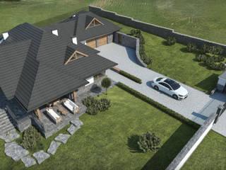 Projekt domu w Beskidach: styl , w kategorii Dom jednorodzinny zaprojektowany przez KJ Architekci,