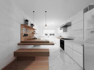 Cocinas de estilo minimalista de GA Experimental Minimalista