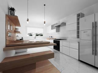Construcción de Cocina en Polanco - Ciudad de México Cocinas minimalistas de GA Experimental Minimalista