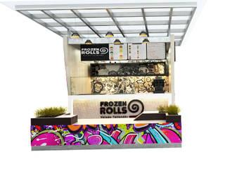 stand de helados Frozen rolls / Ibagué - Tolima Taller 3M Arquitectura & Construcción Acabado en madera