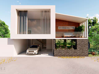 Casas de campo de estilo  por GóMEZ arquitectos