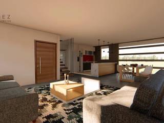 Salas / recibidores de estilo  por GóMEZ arquitectos