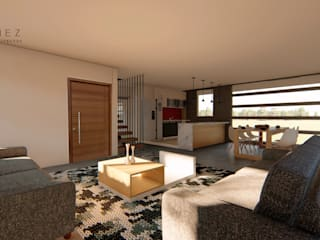 Living room by GóMEZ arquitectos, Modern