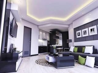 Living room Ruang Keluarga Minimalis Oleh Maxx Details Minimalis