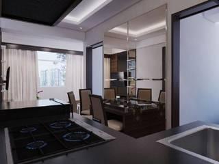 Apartemen The Jarrdin Bandung Ruang Makan Modern Oleh Maxx Details Modern