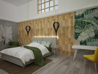 Armo Dezain Rustic style bedroom Wood-Plastic Composite Wood effect