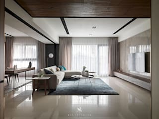 Living room by 理絲室內設計有限公司 Ris Interior Design Co., Ltd.