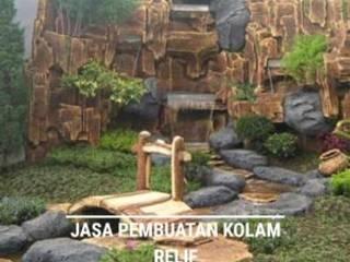 Pembuatan Taman Kolam Relief Air Terjun: Taman oleh Berkah indah taman, Minimalis
