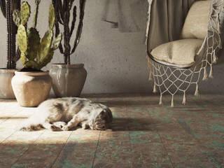 Tropical walls & floors by Aleksandra Kostyuchkova Tropical