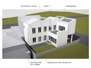 건축사사무소 모뉴멘타 Casas de campo Blanco