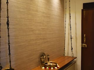 Asian style corridor, hallway & stairs by Uncut Design Lab Asian