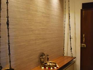 Apartment @ KK nagar, Chennai Asian style corridor, hallway & stairs by Uncut Design Lab Asian