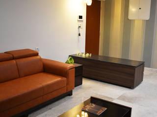 Apartment @ Perungudi, Chennai Modern living room by Uncut Design Lab Modern