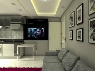 Projeto de interiores BJ Salas de estar modernas por Arquiteta Aline da Silva Freitas Moderno