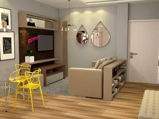 Apartamento L Salas de estar modernas por Arquiteta Aline da Silva Freitas Moderno