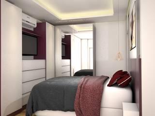 Apartamento L Quartos modernos por Arquiteta Aline da Silva Freitas Moderno