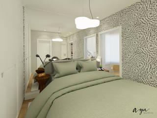 Спальни в . Автор – Aya Arquitetura, Модерн