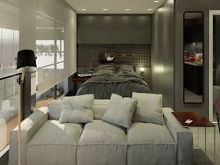Спальни в . Автор – Aya Arquitetura, Лофт
