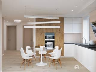 Кухня-столовая: Кухни в . Автор – Архитектурная студия 'АВТОР'
