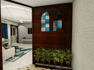 3bhk Designed and Executed at Lodha Amara: mediterranean  by Studio AKS Interior Designs Pvt. Ltd.,Mediterranean