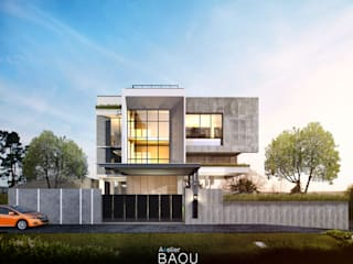 FM HOUSE:  Rumah tinggal  by Atelier BAOU+