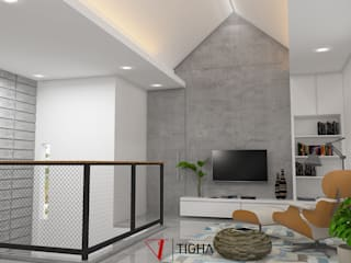 AN House : Ruang Multimedia oleh Tigha Atelier, Modern