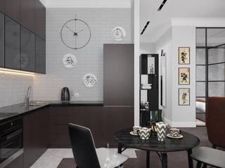 Kitchen by Архитектурное бюро «Парижские интерьеры»
